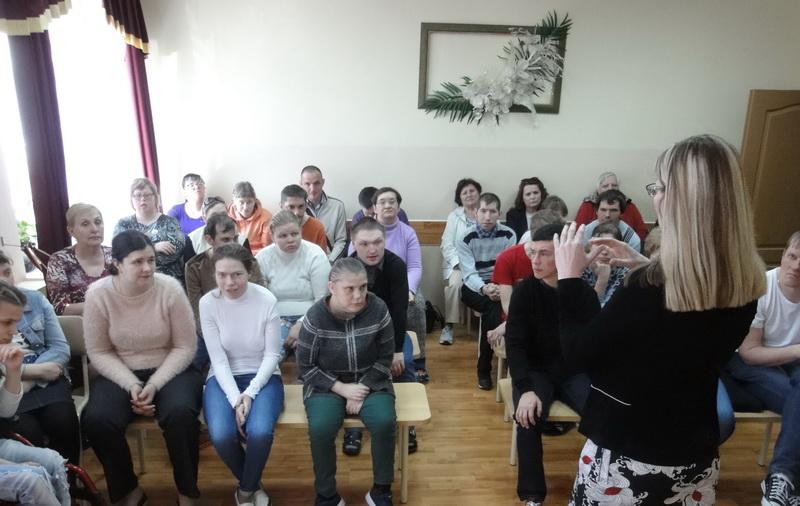 Информационный час в Центре социального обслуживания населения Октябрьского района г. Гродно