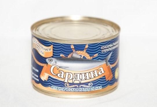 Натуральные рыбные консервы